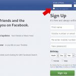 Facebook Login web page
