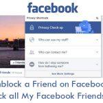 Unblock a Friend on Facebook