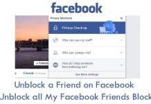 Unblock a Friend on Facebook - Unblock all My Facebook Friends Block