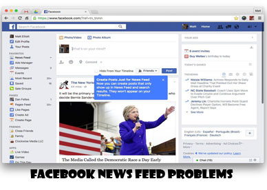 Facebook News Feed Problems - Facebook Account