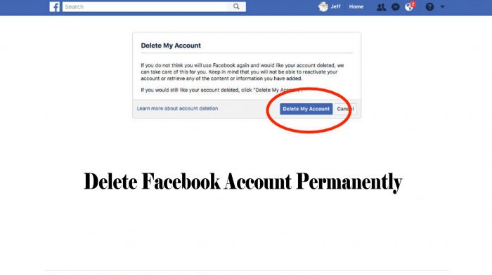 Delete Facebook Account Permanently - Deactivate Facebook Account