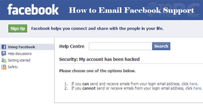 How to Email Facebook Support - Facebook Account