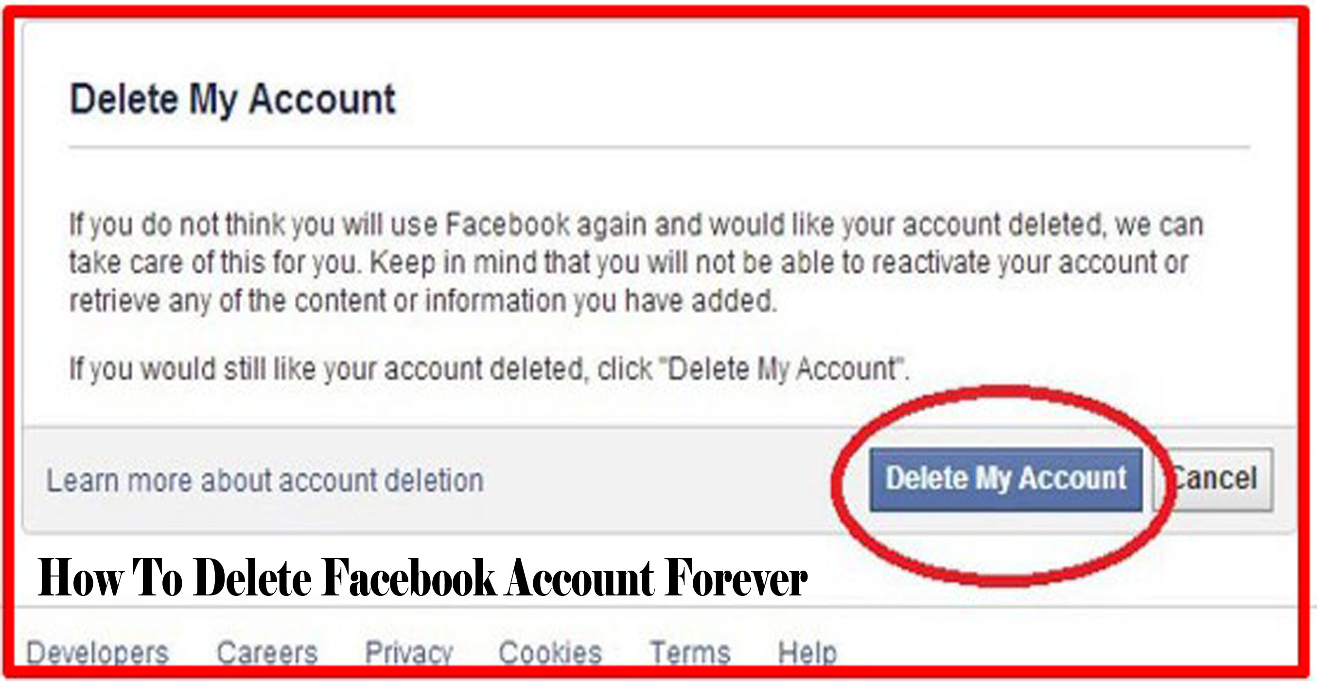 Steps To Delete Facebook Account Forever – Delete My Facebook Account Permanently | Delete Facebook Account Now