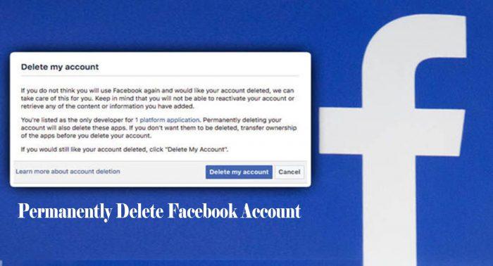 Permanently Delete Facebook Account - Disable Facebook Account