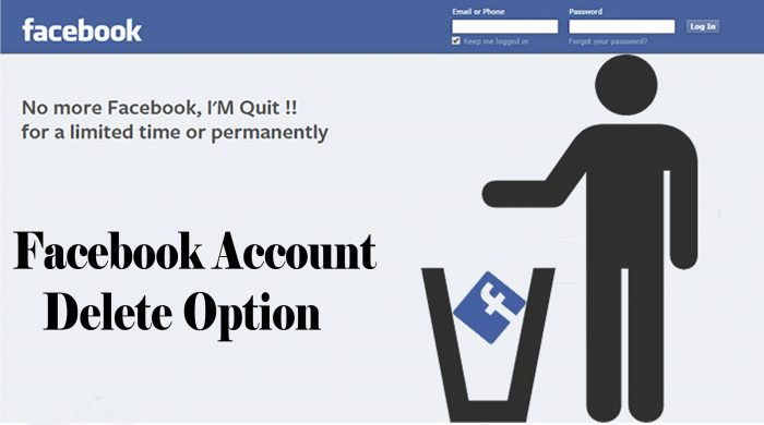 Facebook Account Delete Option - How to