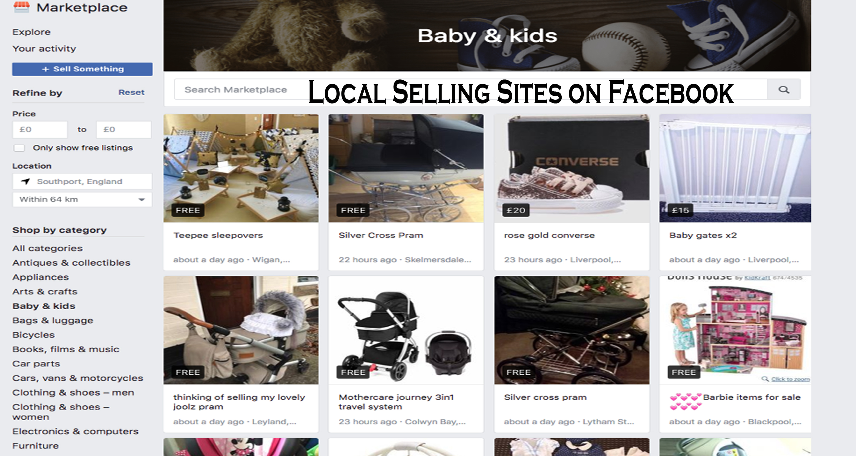 Local Selling Sites on Facebook – Facebook Buying and Selling