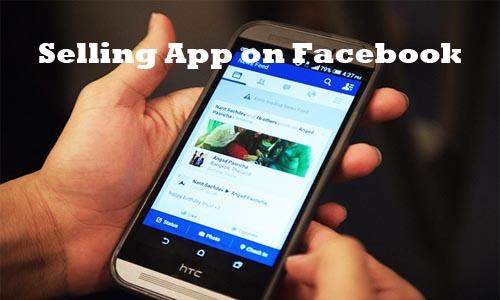 Selling App on Facebook