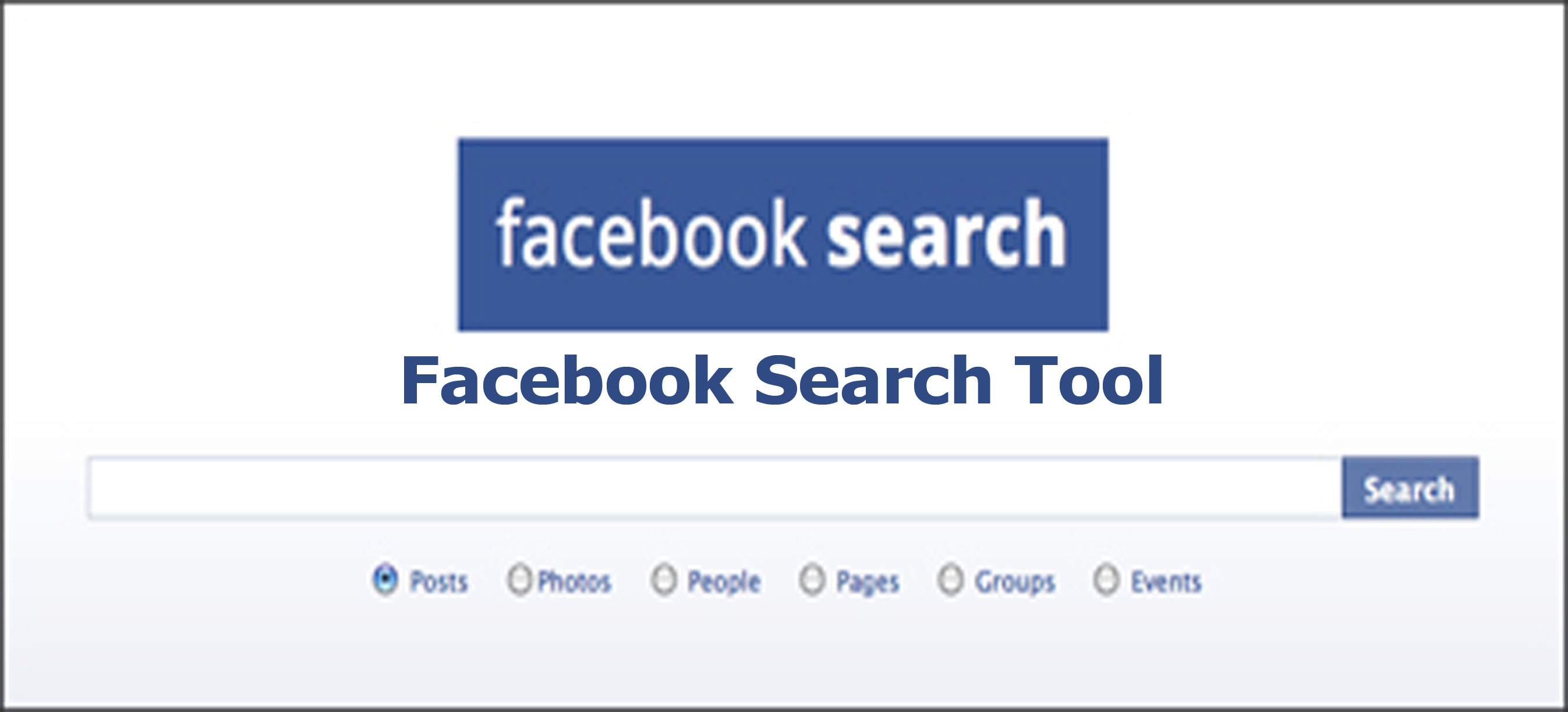 Facebook Search Tool