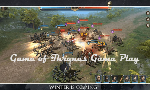 Game of Thrones Winter is Coming Game Play
