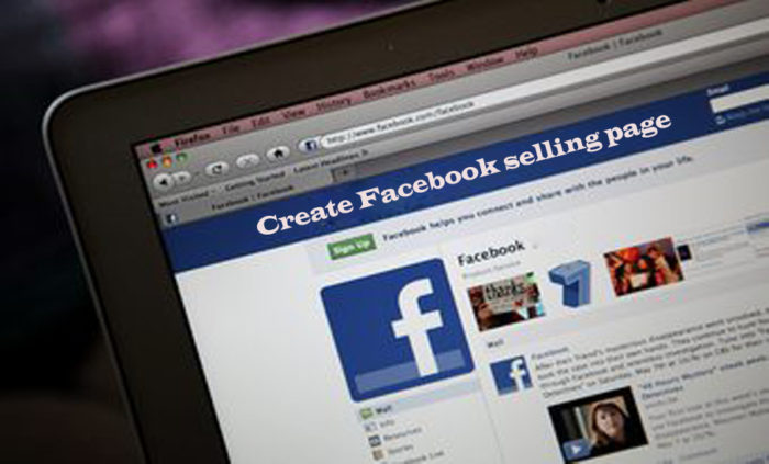 Create Facebook Selling Page