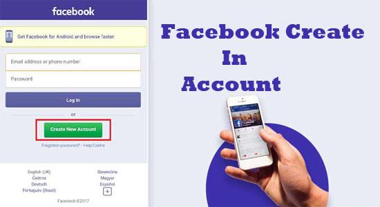 Facebook Create In Account