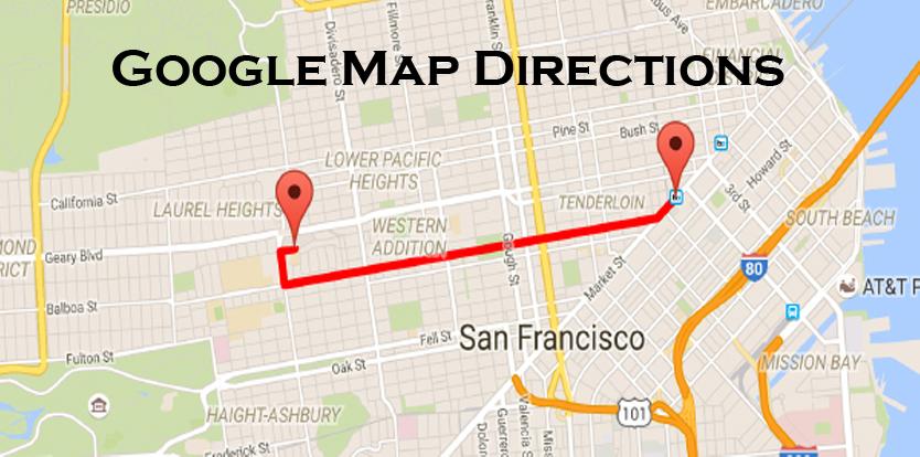 Google Map Directions - Google Map App   Google Street View