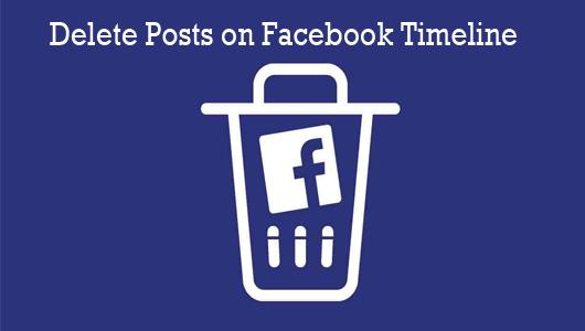 Delete Posts On Facebook Timeline