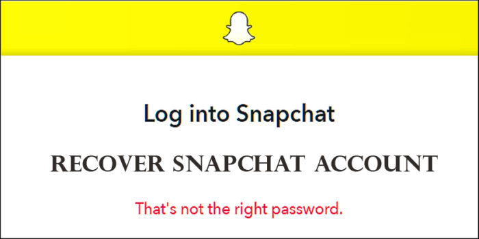 Recover Snapchat Account - How to Recover Snapchat Account