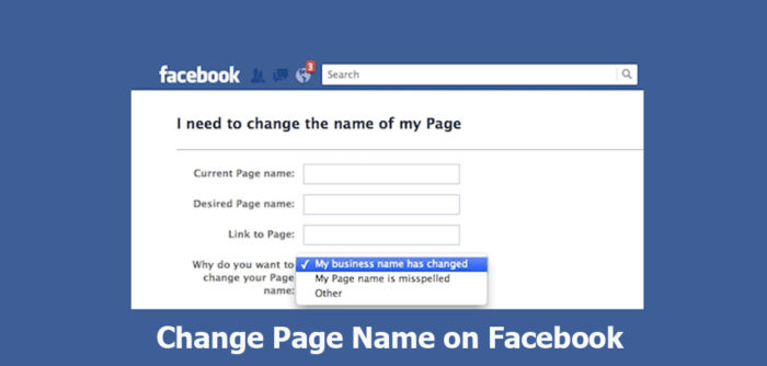 Change Page Name on Facebook - How To Change Facebook Name 2019