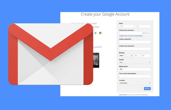 Create Gmail Account – Creating a Gmail Account