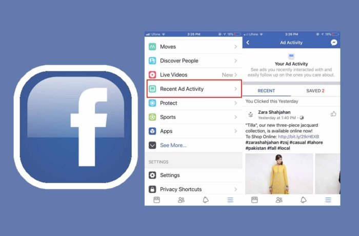 Facebook Ad Activity - Facebook Advertising Manager