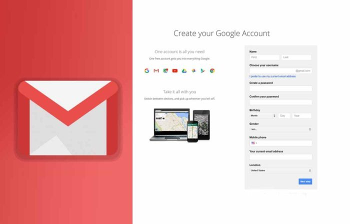 Open New Gmail Account - New Gmail Features