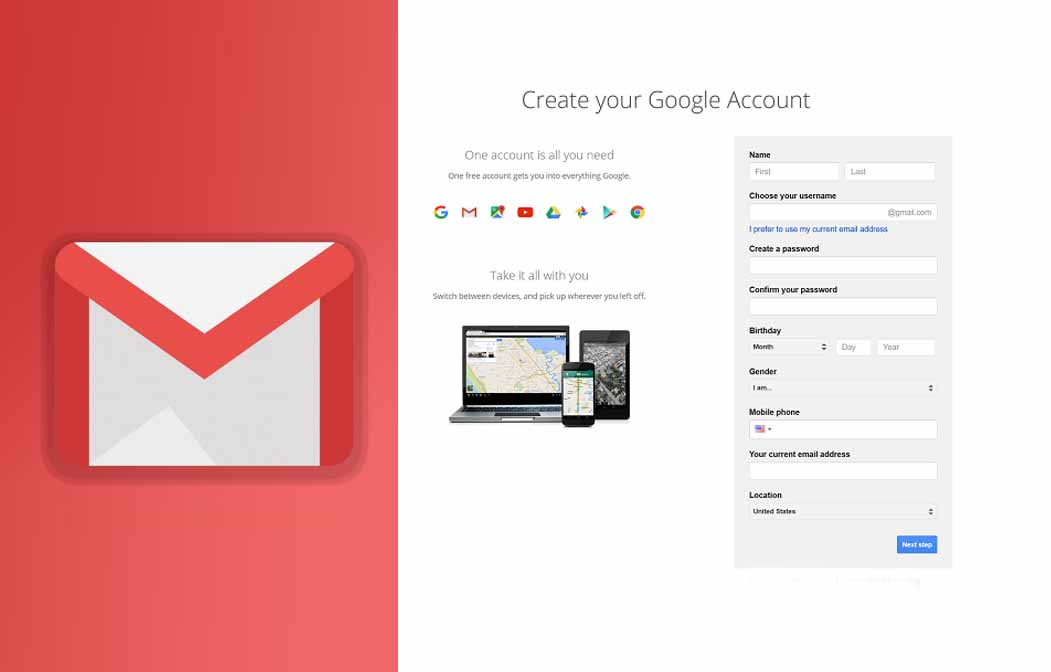 Open New Gmail Account – New Gmail Features