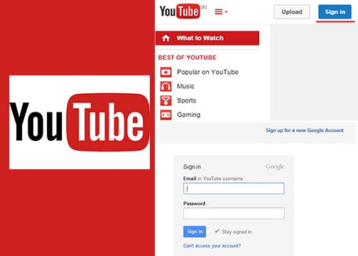 Sign In YouTube With Gmail Account - Youtube Login With Gmail Account   Gmail Sign Up YouTube