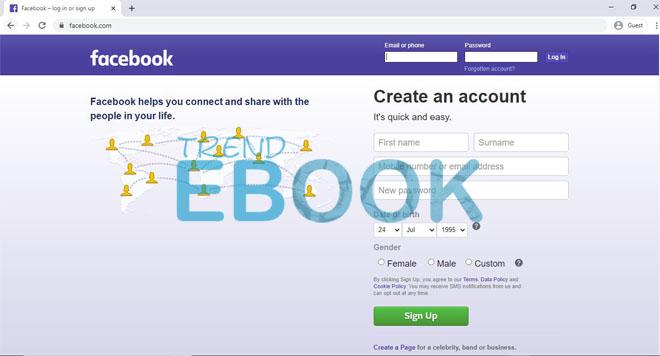 Create Facebook Account – Create Facebook Account New User | Create Facebook Account Free