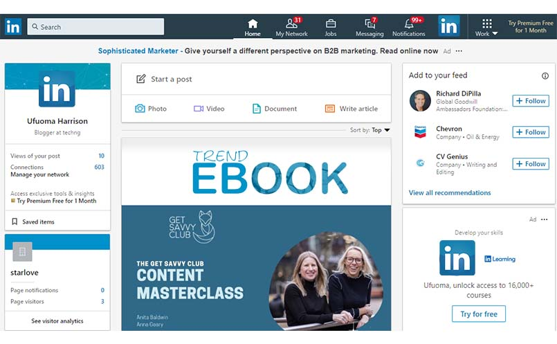 LinkedIn Account – Create a LinkedIn Basic or Premium Account