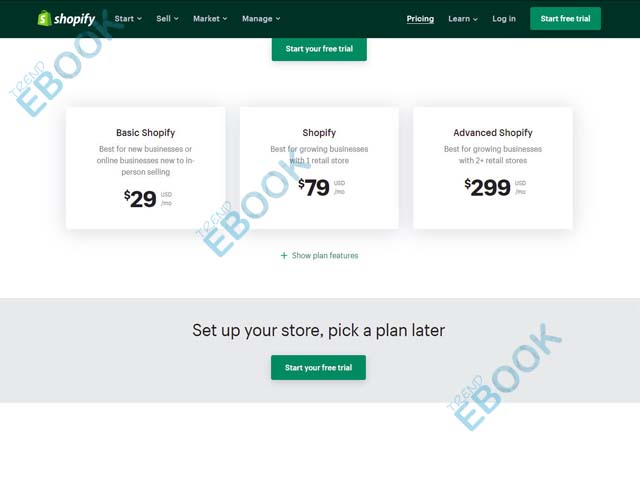 Shopify Pricing - How Much Does Shopify Cost | Shopify Pricing Plans