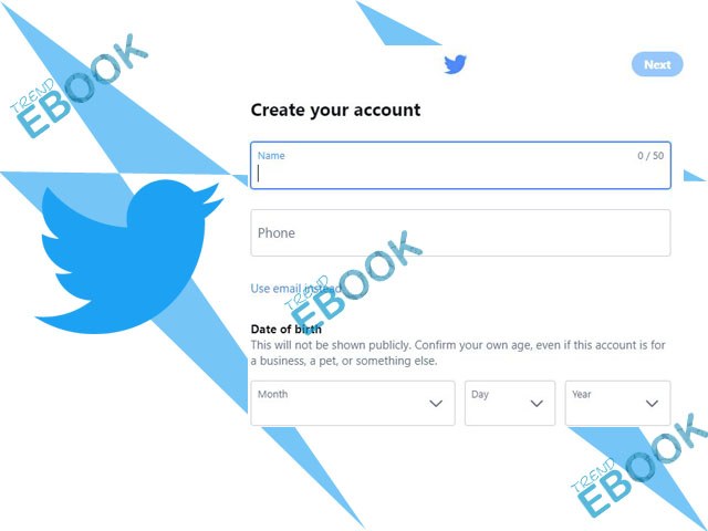 Create Twitter Account - How to Sign up or Create a New Twitter Account