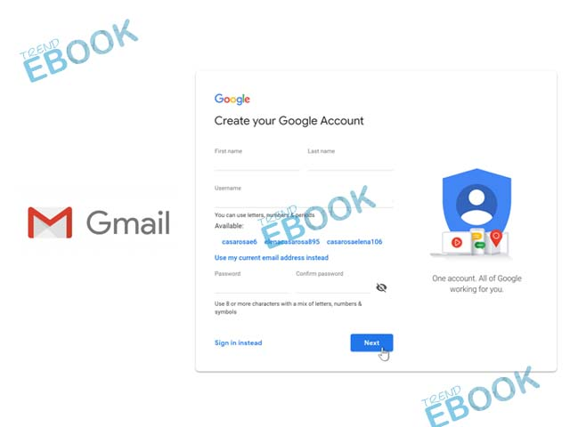 Gmail Register - Create your Google Account | Gmail Login