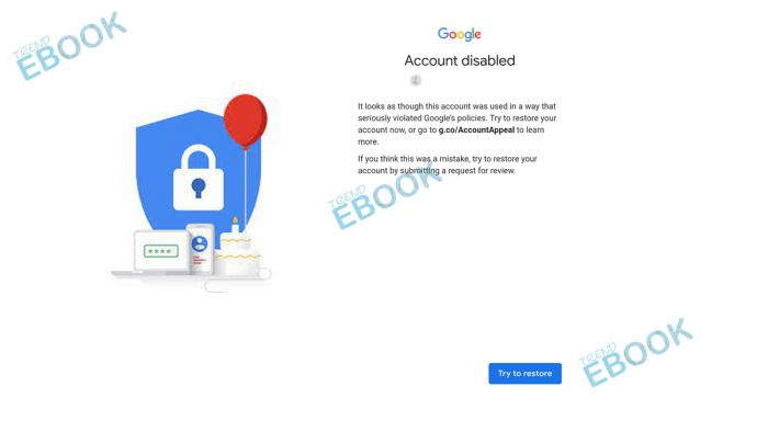 Google Account Disabled - How To Recover Disabled Google Account