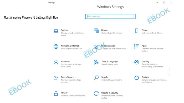 Most Annoying Windows 10 Settings Right Now